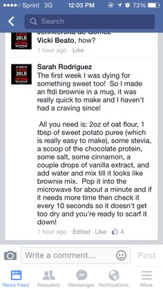 Brownie --really awful, would not recommend