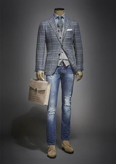38 the ultimate guide on suit styling ideas for men 23 ⋆ talkinggames net is part of Mens clothing styles - 38 the ultimate guide on suit styling ideas for men 23 Mens Fashion Suits, Mens Suits, Older Mens Fashion, Suit Men, Mode Masculine, Stylish Men, Men Casual, Smart Casual Jeans, Moda Formal