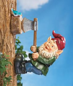 Wood Chopping Tree Gnome Decoration