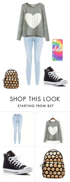 """Untitled #137"" by samhilborne on Polyvore featuring New Look and Converse"
