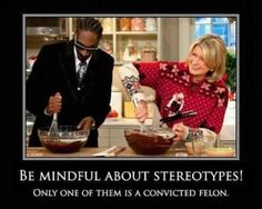 BE MINDFUL ABOUT STEREOTYPES.  Only one of them is a convicted felon.