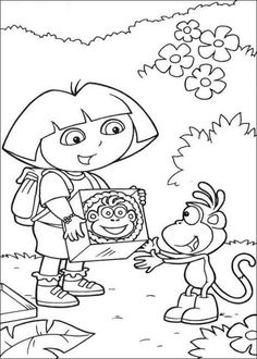 teenage dora coloring pages - photo#44