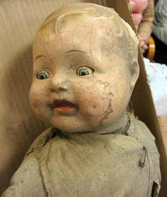 Old doll the survived the 1937 Flood.