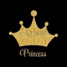 corona de princesa: Princess Golden Glossy Background with Crown Vector Illustration Vectores Emoji Wallpaper, Wallpaper Iphone Cute, Flower Wallpaper, Pattern Wallpaper, Baby Shower Princess, Princess Birthday, Corona Vector, Crown Background, Birthday