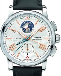 The @montblanc 4810 Twin Fly Chronograph with Caliber MB LL100.1 is one of five new models in its 4810 collection.  Read more here:  http://www.watchtime.com/wristwatch-industry-news/watches/montblanc-4810-exotourbillon-anniversary-editions/ #montblanc #watchtime #chronograph