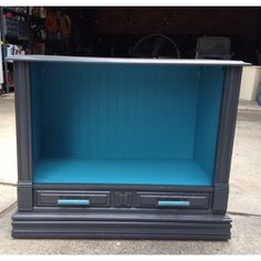 Upcycled Antique Tv Cabinet To Shabby Chic Pet Bed, For Your Furry ... Diy Shabby Chic Pet Bed