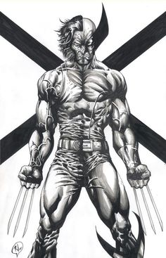 A commission Wolverine copyright Marvel Comics Marvel Wolverine, Logan Wolverine, Marvel Comics Art, Fun Comics, Marvel Fan, Marvel Heroes, Wolverine Tattoo, Comic Book Characters, Comic Character