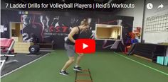 Increase your agility and footwork with these seven agility ladder drills. These drills will prepare players for more explosive volleyball movements. Basketball Training Drills, Volleyball Training, Volleyball Workouts, Volleyball Skills, Coaching Volleyball, Volleyball Players, Agility Workouts, Agility Training, Agility Ladder Drills