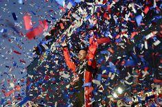 Kurt Busch, driver of the Haas Automation/Monster Energy Ford, celebrates in Victory Lane after winning the Annual DAYTONA 500 at Daytona International Speedway on Feb. 2017 in Daytona Beach, Florida. Daytona 500, Daytona Beach, Kurt Busch, Daytona International Speedway, Danica Patrick, Tony Stewart, Latest Sports News, Monster Energy, Nascar