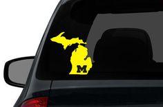 Michigan car decal