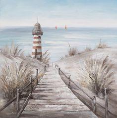 schilderij strand 80x80