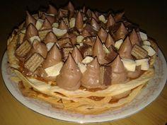 Milhojas de dulce de leche con mousse de chocolate