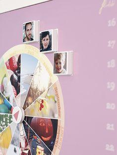 Detail of magnetic family calendar