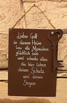 """Spruch - Edel-Rost - Tafel - Hochzeit - Schild - """"Lieber Gott in diesem Heim..."""""""