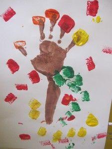 Handprint fall trees..
