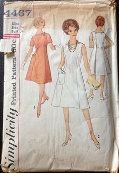 Simplicity 4467 1960s Misses BACK WRAP DRESS Pattern womens vintage sewing pattern by mbchills