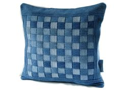 Denim Pillow Cover 14 x 14 Decorative Pillow by SuzqDunaginDesigns, $45.00