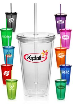 Personalized Double Wall Acrylic Tumblers with Straw Personalized Travel Mugs, Custom Travel Mugs, Personalized Tumblers, Custom Tumblers, Plastic Tumblers, Acrylic Tumblers, Use Of Plastic, Plastic Cups, Bridesmaid Cups
