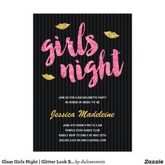 Glam Girls Night | Glitter Look Bachelorette Party