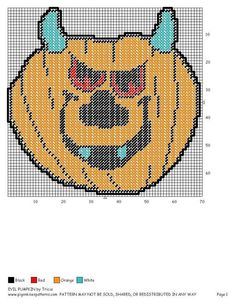 EVIL PUMPKIN by TRICIA -- WALL HANGING