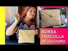 BORSA TRACOLLA UNCINETTO PUNTO SHABBY CHIC tutorial