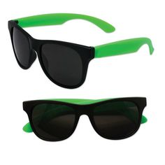 Adult Size Black and Green Sunglasses Case Pack 300