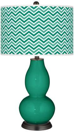 Emerald  Narrow Zig Zag Double Gourd Table Lamp -