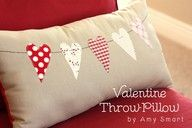 Valentines day pillow... adorable!