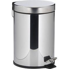 Stainless Steel Step-On 1.3-Gallon Trash Can in Office Accessories | Crate and Barrel