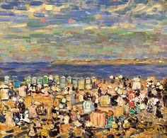 La playa de St. Malo, Prendergast Maurice - Madrid, Museo Thyssen Bornemisza