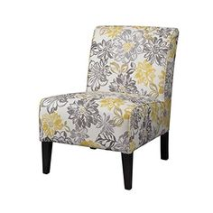 Give Your Living Room Or Bedroom Added Style With This Linon Lily Armless  Accent Chair, Featuring A Lovely Floral Print.