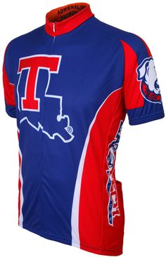 Louisiana Tech Bulldogs Cycling Jersey Free Shipping - see it at http://www.cyclegarb.com/cocyje.html