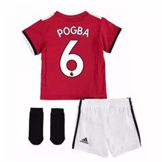 a56a03f0d Man Utd 17-18 Pogba Kids Home Kit Soccer Shirts
