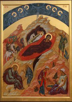 Nativity of Christ by. Vladislav and Olga Andrejev of the Prosopon School.