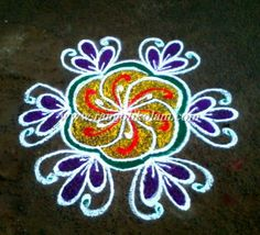 Today thoughts of kolam....... The most beautiful thing in this world is to see ur parents smiling ,and the next best thing is to know that u r the reason behind that SMILE........ Free hand  simpl...
