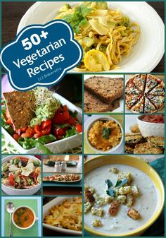 Celebrate Vegetarian Awareness Week with 50+ vegetarian recipes from around the Web. Bakerette.com.
