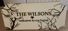 Wood Burned Welcome Sign - Personalized Plaque with Names and Dates. Great for Wedding/Anniversary Gift, Logos, etc.