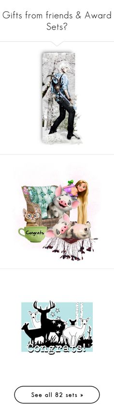 """Gifts from friends & Award Sets❤"" by riagr ❤ liked on Polyvore featuring art, vintage, wishing, congrats, HUGE, congratulations and country"