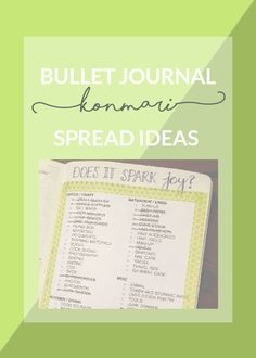 konmari for bullet journal