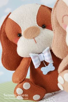 Baby Cachorrinho! Peça presente em minha Apostila Digital Baby Pets. Para conhecer acesse: www.boutiquedofeltro.com