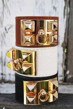 HERMES bracelets..black&white! $1275e