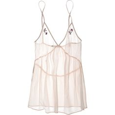 Stella McCartney Knickers Of The Week Camisole ($24) ❤ liked on Polyvore featuring intimates, camis, tops, lingerie, underwear, dresses, women, pink cami, pastel lingerie and transparent lingerie