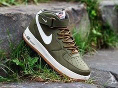 Nike Air Force 1 Mid Medium Olive / Sail Gamma Light Brown