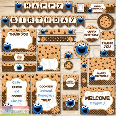 Cookie Monster Birthday Printable Party Package by CSExpressions