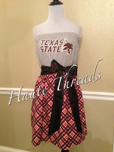 Texas state cheerleaders on gameday gameday pinterest for Custom t shirts san marcos tx