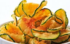 Zucchini chips- so simple and easy to make. Personally, I may add a little spice, like cayenne pepper!