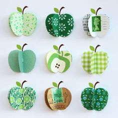 Personalised Paper Apples Art by Sweet Dimple, the perfect gift for Explore more unique gifts in our curated marketplace. Fall Crafts For Kids, Toddler Crafts, Art For Kids, Diy And Crafts, Arts And Crafts, Fabric Crafts, Paper Crafts, Apple Picture, Apple Decorations