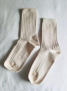 Her Socks (MC cotton) - Porcelain Cotton Socks, Ankle Socks, Crew Socks, Porcelain, Knitting, Shopping, Color, Spandex, Tricot