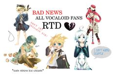 """""""VOCALOID FANS RTD!!! URGENT INFO!"""" by adventuretimekitty ❤ liked on Polyvore featuring art, country and vocaloid"""