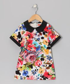 Take a look at this Pink & Black Floral Collar Dress - Toddler & Girls by Funkyberry on #zulily today!